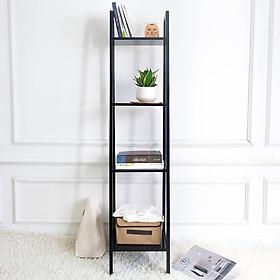 Kệ Sách Gỗ 4 Tầng Size S A Book Shelf 4FS Nội Thất Kiểu Hàn BEYOURs - Đen