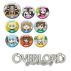 Combo 9 huy hiệu OVERLORD anime chibi dễ thương