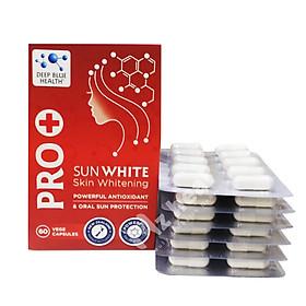 Pro+ Sunwhite Viên uống chống nắng, trắng da Pro Sunwhite Deep Blue Health 60 viên