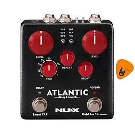 Phơ Đàn Guitar Nux Atlantic Reverb & Delay Pedal NDR-5 (Bàn đạp Fuzz Effect Pedal) - Kèm Móng Gảy DreamMaker