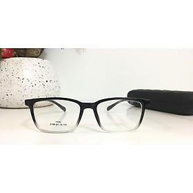 Gọng kính nam, nữ , chất liệu nhựa TR90, kiểu dáng hiện đại, độc đáo- 0100 đen trong