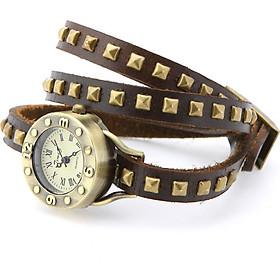 Women's Vintage Rivets Bracelet Wrist Watch