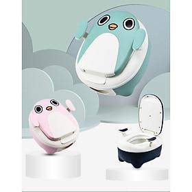 Bô vệ sinh cao cấp có tay vịn cho bé dễ dàng tháo rửa vệ sinh-hàng chính hãng