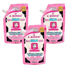 Combo 3 Bịch Muối tắm sữa bò tẩy tế bào chết A Bonne Spa Milk Salt Thái Lan (350gr*3)