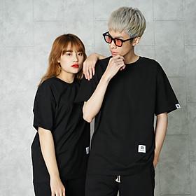 Áo thun Unisex N7 Basic Tee phông trơn nam nữ tay lỡ oversize phom rộng