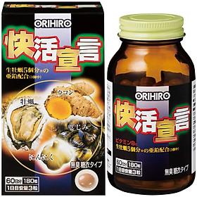 Thực phẩm bảo vệ sức khỏe Tinh chất hàu tươi tỏi nghệ Orihiro Vivacity Nhật Bản 180 viên