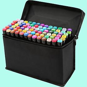 Bộ 80 bút màu Touch Mark màu đen cao cấp - Tặng 2 bút line đen và trắng