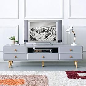 Tủ TV 5 Ngăn Kéo Rora IBIE - LV5KRORG - Grey