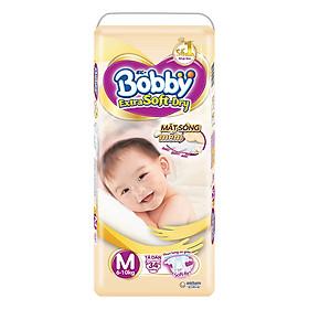 Tã Dán Siêu Mềm Bobby Extra Soft Dry Gói Lớn M34 (34 Miếng)-0