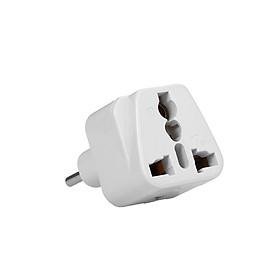 High Quality Swiss Embedded Conversion Plug 3-hole Adaptor Plug Swiss Plug to Universal Socket Travel Plug Adapter White