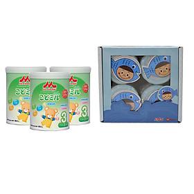 Combo 3 hộp sữa Morinaga số 3 Kodomil hương 850gr + tặng 4 hủ ruốc cá hồi Meiwa (vị ngẫu nhiên)