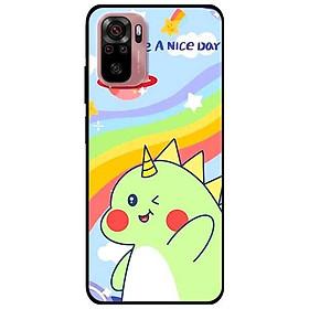 Ốp lưng dành cho Xiaomi Xiaomi Redmi Note 10 - Redmi Note 10 Pro - mẫu Khủng Long Xanh