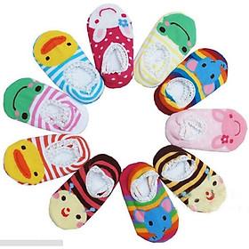 Bộ 10 đôi tất hoạt hình chống trơn cho bé tập đi (3-4 tuổi)