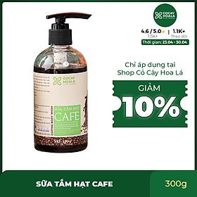 Sữa tắm khử mùi cơ thể Cocayhoala chiết xuất hạt Arabica thơm mùi cà phê, sáng mịn da, dưỡng ẩm, tẩy tế bào chết 300g