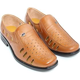 Giày lười nam da bò đục lỗ thoáng khí Rozalo R5100