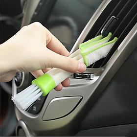 Bàn chải xe làm sạch nội thất Điều hòa ô tô   Bàn chải mini vệ sinh cửa sổ điều hòa thông gió xe hơi