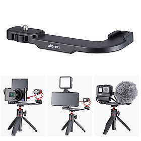 Ulanzi PT-9 Cold Shoe Mount Bracket ABS Material with 1/4 Inch Screw Holes for Microphone LED Video Light