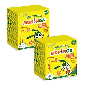 COMBO 2 hộp Viên Canxi K2 Moringa - Bổ sung Canxi và Vitamin K2, tăng chiều cao, chống còi xương ở trẻ em - Hộp 8 gói