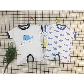 set 2 áo liền quần cho bé sơ sinh, đồ sơ sinh mùa hè