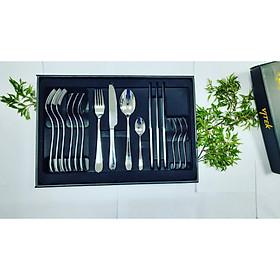 Bộ quà tặng dao muỗng nĩa/dao thìa dĩa cao cấp REGAL-ELEGANCE ( 4 set - 16 pcs dao muỗng nĩa bàn ăn 304ss)
