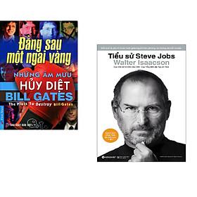 Combo 2 cuốn sách: Bill Gates - Những Âm Mưu Hủy Diệt + Tiểu Sử Steve Jobs