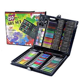 Hộp Màu 150 Chi Tiết Đa Dạng Màu Sắc Cho Bé Tập Tô, Hộp Màu Cho Bé Thỏa Sức Sáng Tạo- P3745 - Tặng 1 Gôm tẩy bút chì (Giao màu ngẫu nhiên)