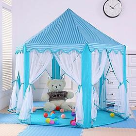Lều công chúa hoàng tử hình lục giác-xanh