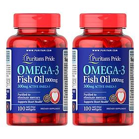 Thực Phẩm Chức Năng - Bộ 2 Viên Uống Dầu Cá Puritan'S Pride Omega-3 Fish Oil 3832 (1000mg)