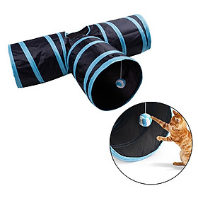 Pet Cat Tunnels Maze Collapsible Folding 3 Way Cat Toys for Rabbits Kittens
