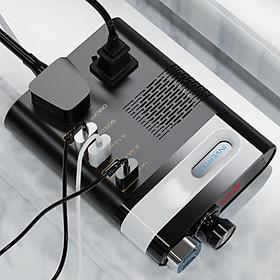 Bộ chuyển nguồn điện Adapter ô tô 12V/24V - 220V Bộ kích điện Adaptor cho xe hơi Biến áp nguồn xe ôtô đầu tẩu