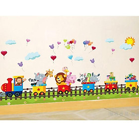 Decal dán tường đoàn tàu sở thú ZOOYOO AM7123