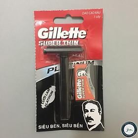 Dao Cạo Dâu Gillette Super Thin, Siêu Bén, Siêu Bền + Tặng Kèm Lưỡi Dao Lam