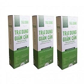 03 Hộp Trà Giảm Cân - Trà Dung Giảm Cân The Kaffeine - 30 túi lọc 250g ( Liệu Trình 1 Tháng)