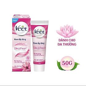 Kem Tẩy Lông Dành Cho Da Thường VEET Silk & Fresh Normal Tuýp 50g - Giao Ngẫu Nhiên