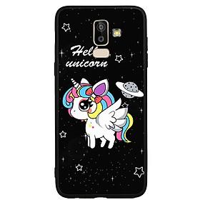 Hình đại diện sản phẩm Ốp lưng nhựa cứng viền dẻo TPU cho điện thoại Samsung Galaxy J8 - Unicorn 03