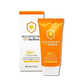 Kem Chống Nắng Dưỡng Ẩm 3W Clinic Multi Protection UV Sun Block SPF 50+ PA+++ 70ml - Hàn Quốc Chính Hãng