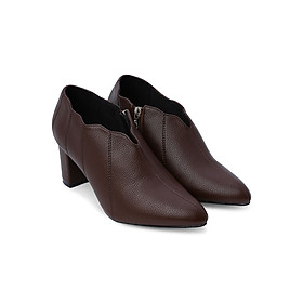 Giày Boot Nữ Lượn Sóng Rosata RO130 - Nâu