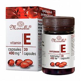 1 Hộp Vitamin E Đỏ Mirrolla 400Mg 30 viên của Nga