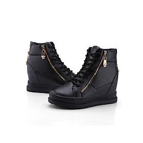 Giày Nữ kiểu dáng thời trang 2 khóa kéo B042D