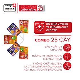 Combo 25 Cây Kẹo Mút Vitamins Tổng Hợp & Canxi Cho Trẻ Em Dr.Frei