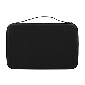 Hard Battery Organizer Storage Box Carrying Case Protective Bag Holder For AA AAA C D 9V Batteries - Black