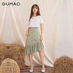 Chân váy nữ  VA1039 GUMAC thiết kế  lai lệch rã bèo