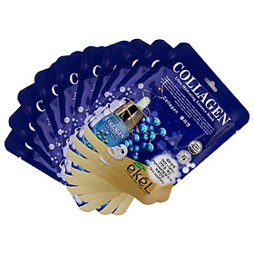 Combo 10 mặt nạ dưỡng da tặng 3 mặt nạ dưỡng da bất kỳ EKEL Collagen ULtra Hydrating Essence Mask