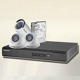 Trọn bộ 3 camera chính hãng Hikvision HD720P