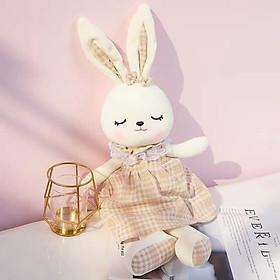 Gấu bông thỏ nifty mặc váy 40cm, Gấu bông đáng yêu cho bé- chất lượng cao, bông mềm mịn