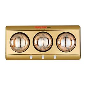Đèn Sưởi Nhà Tắm 3 Bóng Hồng ngoại 825W, 3 Công tắc HappyGold LD833 - Hàng chính hãng