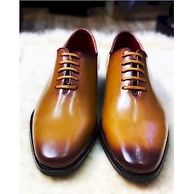 Giày Tây nam da bò ý siêu mềm đánh patina màu bò