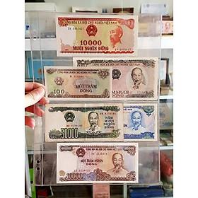 Bộ tiền giấy cotton Việt Nam 6 tờ huyền thoại 50 100 đồng 10k 20k 50k 100k xưa , sưu tầm tiền xưa