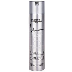 Keo xịt tóc L'oreal Infinium Pure 6 STRONG Hair Spray tạo kiểu định hình nếp tóc 300ml