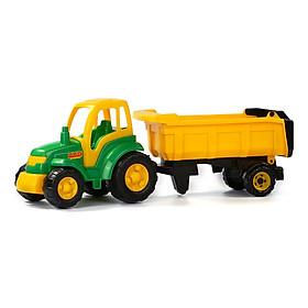 Xe kéo đồ chơi nông trại Champion kèm rơ mooc – Polesie Toys